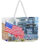 Missouri Battleship Memorial Flags Weekender Tote Bag