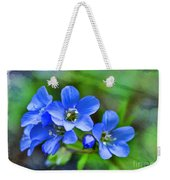 Missouri Wildflowers 5  - Polemonium Reptans -  Digital Paint 1 Weekender Tote Bag