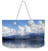 Mist Over Priest Lake Weekender Tote Bag