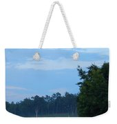 Mist Rolls In And Blue Sky At Sunset Weekender Tote Bag