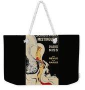Mistanguette At The Casino De Paris Weekender Tote Bag