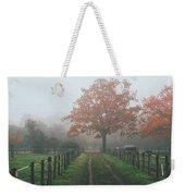 Misty Autumn Morning Weekender Tote Bag