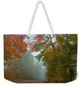 Misty Autumn Road Weekender Tote Bag
