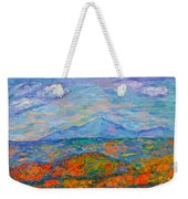 Misty Blue Ridge Autumn Weekender Tote Bag