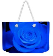 Misty Blue Rose Weekender Tote Bag