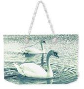 Misty Blue Swans Weekender Tote Bag
