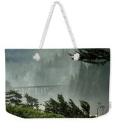 Misty Bridge At Heceta Head Weekender Tote Bag