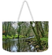Misty Day On River Teign - P4a16017 Weekender Tote Bag