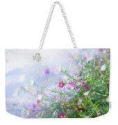 Misty Floral Spray Weekender Tote Bag