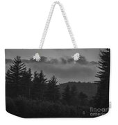 Misty Maine Woods Black And White 2 Weekender Tote Bag