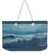 Misty Morning Fog Mount Mansfield Panorama Painting Weekender Tote Bag