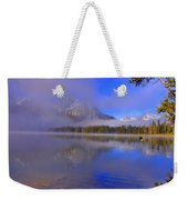 Misty Morning On A Canoe Weekender Tote Bag