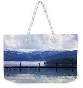 Misty Morning On Priest Lake Weekender Tote Bag