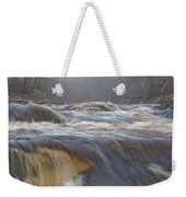 Misty Morning On The River Weekender Tote Bag