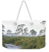 Misty Morning On The Trail Weekender Tote Bag