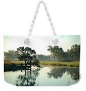 Misty Morning Pond Weekender Tote Bag