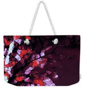 Misty Morning-purple And Red Weekender Tote Bag