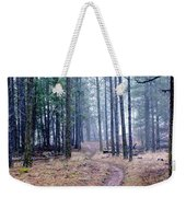 Misty Morning Trail In The Woods Weekender Tote Bag