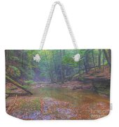 Misty Morning Woodscape Two Weekender Tote Bag
