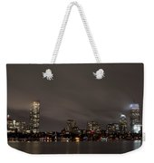Misty Night On The Charles River Boston Ma Weekender Tote Bag