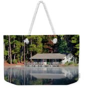 Misty Reflection At Durant Weekender Tote Bag by George Randy Bass