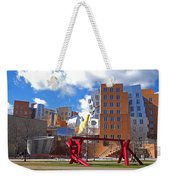 Mit Stata Center Cambridge Ma Kendall Square M.i.t. Sculpture Weekender Tote Bag