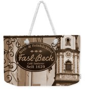 Mittenwald Cafe Sign In Sepia Weekender Tote Bag