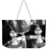 Mitzvah Cup Black And White Weekender Tote Bag