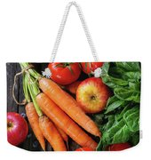 Mix Of Fruits, Vegetables And Berries Weekender Tote Bag