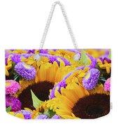 Mixed Autumn Flowers Weekender Tote Bag