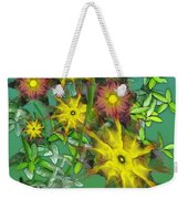 Mixed Flowers Weekender Tote Bag