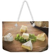 Mixed French Cheese Platter With Bread Weekender Tote Bag
