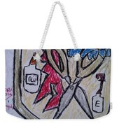 Mixed-media Mobb Weekender Tote Bag