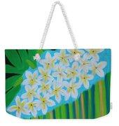 Mixed Up Plumaria Weekender Tote Bag by Deborah Boyd