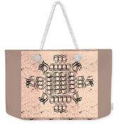 Mmonogram Stripes Lite Mauve Charcoal Weekender Tote Bag