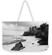 Moalboal Cebu White Sand Beach In Black And White Weekender Tote Bag