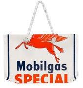 Mobil Gas Vintage Sign Weekender Tote Bag