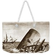 Moby Dick Both Jaws, Like Enormous Shears Bit The Craft Complete In Half Weekender Tote Bag