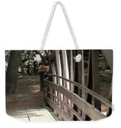 Mocha Colored Walking Bridge In American Fork Canyon Utah Weekender Tote Bag