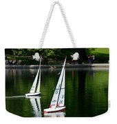 Model Boats Central Park New York Weekender Tote Bag