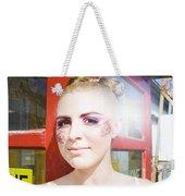 Model In Lace Makeup Weekender Tote Bag