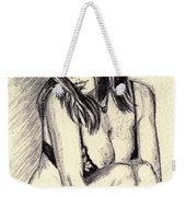 Model Quick Drawing Weekender Tote Bag