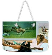 Modeling, Frederick Remingtons, Stampede By Lightning, Advanced Guard Weekender Tote Bag