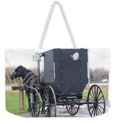 Modern Amish Horse And Buggy Weekender Tote Bag