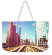 Modern Architecture Of Dubai Seen From A Metro Car. Weekender Tote Bag