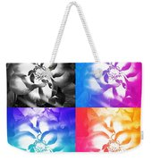 Modern Art Meets My Flowers Weekender Tote Bag