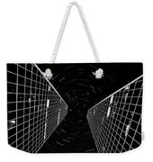 Modern Building With Star Tracks Night Photography Weekender Tote Bag