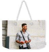 Modern College Student In New York Weekender Tote Bag