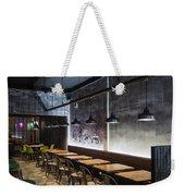 Modern Industrial Contemporary Interior Design Restaurant Weekender Tote Bag