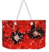 Modern Red Poppies - Sharon Cummings Weekender Tote Bag